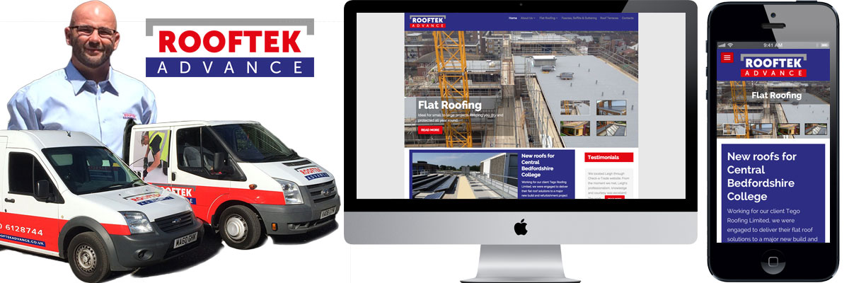 Rooftek branding and website design in Reading
