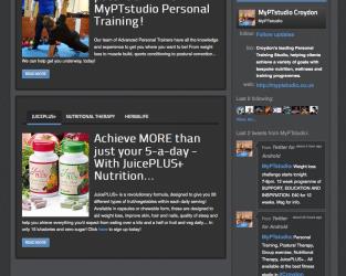 MyPTstudio website