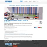 Harmony Blinds home page