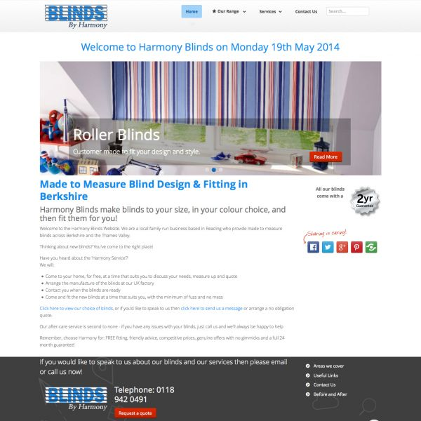 Harmony blinds website